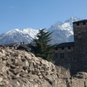 Roman and medieval ruins in Aosta. Photo: K. Galat