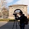 Filming in Aosta. Photo: O. Kolmovsky