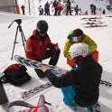 Anna Khankevich with new skis. Photo: O. Kolmovsky