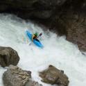 Dombai, Gonachkhir river. Rider: Alexei Lukin.  Photo: A.Buslaeva