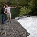 Konstantin Galat & Alexey Lukin. Kardalfossen waterfall. Flåm. Photo: D. Pudenko
