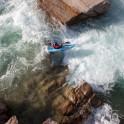Kyrgizia, Kekemeren river. Kayaker - Vanya Rybnikov. Photo: K.Galat