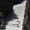 Kyrgizia, Maliy Naryn canyon. Kayakers: Alexei Lukin & Egor Voskoboynikov. Photo: Konstantin Galat