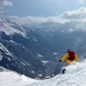Montblanc, Valle d'Aosta, Italy. Skier: Igor Tikhiy (TeleTrade)  Photo: Oleg Kolmovskiy