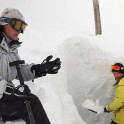 Elbrus Region, Mt.Cheget meteostation. Petr Yastrebkov and meteorologist Nina Bulatova. Photo: O.Kolmovsky