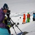 Khibiny. Cameramen - Oleg Kolmovskiy and RTP team on start. Photo: Sergey Shestihin