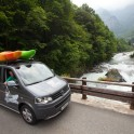 Nothern Italy, Valsesia valley. Sesia river. RTP car - VW Multivan Panamericana. Photo: Konstantin Galat