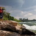 Uganda. Nile river. RTP cameraman - Oleg Kolmovskiy. Photo: Konstantin Galat