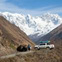 Georgia. Upper Svaneti. Mt.Skhara glacier valley. RTP team. Photo: Konstantin Galat