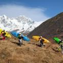 Georgia. Upper Svaneti. Mt.Skhara glacier valley. RTP team on the source of Inguri river. Photo: Konstantin Galat