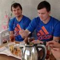 (Georgia. Upper Svaneti. Artem Trifonov and Sergey Ilyin. Photo: Maxim Kopylov