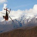 Russia. Krasnaya Polyana. Helicopter Alouette of Heliaction company. Photo: Konstantin Galat