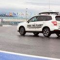 Russia. Sochi. RTP official car Subaru Forester on the Sochi Autodrom race track. Photo: Oleg Kolmovskiy