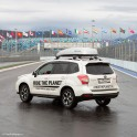 "Russia. RTP official car - Subaru Forester on the competition track of ""Sochi Autodrom"". Photo: Oleg Kolmovskiy"