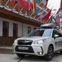 Russia. Krasnaya Polyana. RideThePlanet official car - Subaru Forester. Photo: Oleg Kolmovskiy