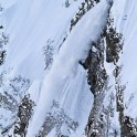 Russia. Krasnaya Polyana. Snow avalanche. Photo: Oxana Plushko