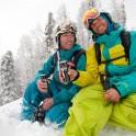 Russia. Krasnaya Polyana. Trial-Sport riders: Konstantin Galat and Egor Druzhinin. Photo: Vitaliy Mihailov