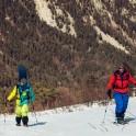 Russia. Nothern Osetia. Backcountry in Tsey valley. Kirill Anisimov and Egor Druzhinin. Photo: Sergey Puzankov