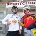 Austria, Leogang. UCI Downhill World Cup. RTP riders: Petr Vinokurov and Nikolay Pukhir. Photo: Konstantin Galat