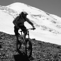 Russia. North face of Elbrus. Rider - Petr Vinokurov. Photo: Konstantin Galat