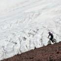 Russia. North face of Elbrus. Rider - Nikolay Pukhir. Photo: Konstantin Galat