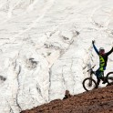 Russia. North face of Elbrus. Rider - Nikolay Pukhir. Photo: Konstantin Galat