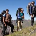 Russia. North face of Elbrus. RTP filming crew - Oleg Kolmovskiy, Ludmila Zvegintseva and Konstantin Galat. Photo: Konstantin Galat