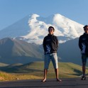 Russia. North face of Elbrus. Riders - Nikolay Pukhir and Petr Vinokurov. Photo: Konstantin Galat