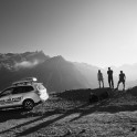 Russia. South Elbrus. RTP team and project official car - Subaru Forester. Photo: Konstantin Galat