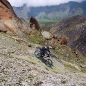 Russia. North face of Elbrus. Rider - Vitaliy Khripunov. Photo: Ludmila Zvegintseva