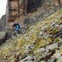 Russia. North face of Elbrus. Rider - Nikolay Pukhir. Photo: Ludmila Zvegintseva