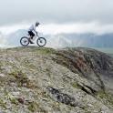 Russia. North face of Elbrus. Rider - Petr Vinokurov. Photo: Ludmila Zvegintseva