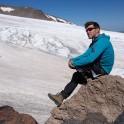 Russia. North face of Elbrus. Konstantin Galat - author of RideThePlanet project. Photo: Ludmila Zvegintseva