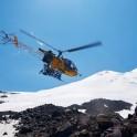 "Russia. North face of Elbrus. Heliaction company's helicopter ""Lama"" - pilot Alexander Davydov. Photo: Ludmila Zvegintseva"