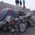 Russia. North face of Elbrus. RTP team at Mt.Elbrus climb base camp, Alt. 3800m. Photo: Ludmila Zvegintseva