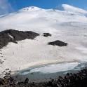 Russia. North face of Elbrus. Mt.Elbrus climb base camp, Alt. 3800m. Photo: Ludmila Zvegintseva
