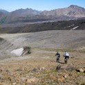 Russia. North face of Elbrus. Riders - Petr Vinokurov and Vitaliy Khripunov. Photo: Ludmila Zvegintseva