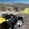 Russia. North face of Elbrus. RTP team base camp, alt. 3200 m. Photo: Ludmila Zvegintseva