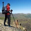 Russia. North face of Elbrus. RTP cameraman - Oleg Kolmovskiy. Photo: Ludmila Zvegintseva