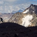 Russia. South Elbrus. Rider - Nikolay Pukhir. Photo: Ludmila Zvegintseva