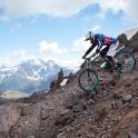 Russia. South Elbrus. Terskol valley. Rider - Vitaliy Khripunov. Photo: Ludmila Zvegintseva