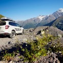 Russia. South Elbrus region. RTP project official car - Subaru Forester. Photo: Ludmila Zvegintseva