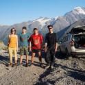 Russia. South Elbrus. Ludmila Zvegintseva, Gleb Ermolaev, Konstantin Galat and tourists. Photo: Oleg Kolmovskiy