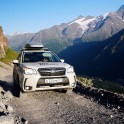 Russia. South Elbrus. RTP project official car - Subaru Forester. Photo: Ludmila Zvegintseva