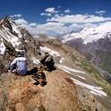 Russia. South Elbrus region. Mt.Cheget, altitude - 3500 m. Rider - Petr Vinokurov. Photo: Ludmila Zvegintseva