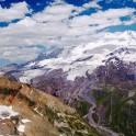 Russia. South Elbrus. Massive Elbrus - view from Mt.Cheget, altitude - 3500m. Photo: Ludmila Zvegintseva