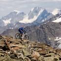 Russia. South Elbrus. Cheget massive. Rider - Nikolay Pukhir. Photo: Ludmila Zvegintseva