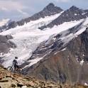 Russia. South Elbrus. Cheget massive. Rider - Petr Vinokurov. Photo: Ludmila Zvegintseva