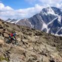 Russia. South Elbrus. Cheget massive. Rider - Vitaliy Khripunov. Photo: Ludmila Zvegintseva