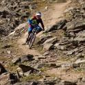Russia. South Elbrus. Cheget massive. Rider - Nikoloay Pukhir. Photo: Ludmila Zvegintseva